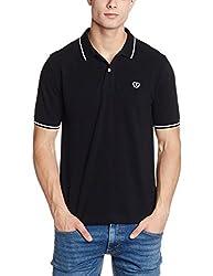 Van Heusen Sport Mens Solid Regular Fit T-Shirt (VSKP517S011408_Black_XX-Large)