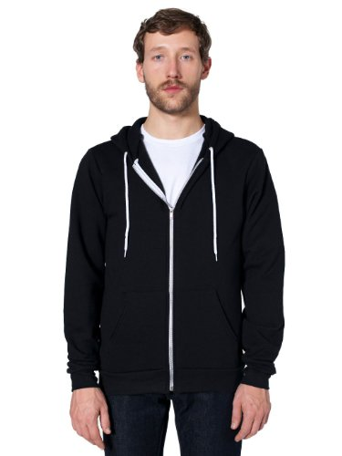 american-apparel-unisex-flex-fleece-kapuzenpulli-f497-black-m