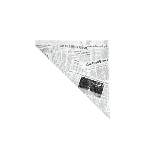 VEGA Pommestüte News schwarz / weiß 17,5x17cm, 100 Stück
