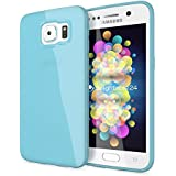 delightable24 Protección Caso Case de la Cubierta de TPU Silicona Jelly SAMSUNG GALAXY S6 Smartphone - Azul Claro