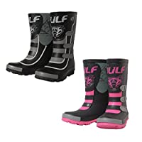 Wulfsport Kids Mud Stomper Junior Motocross Wellington Boots Rain Shoes -