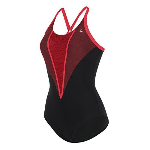 Aqua Sphere - Damen Badeanzug ,schwarz (Black/Chine Red), DE: 46 Preisvergleich