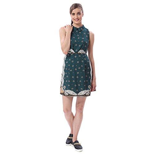 Vero Moda Women's Green Coloured Party Dress