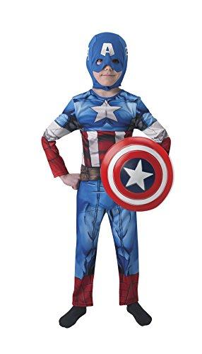 Capitan Amerika-Kostüm mit Wappen, L (Rubie 's Spain -