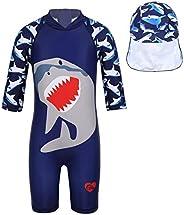 Inhzoy - Traje de baño térmico con estampado de tiburón para niños