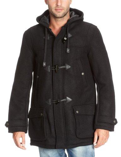 Schott Nyc Warren - Duffle coat - Manches longues - Homme - Noir - X-Large (Taille fabricant: XL)