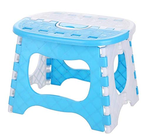 MOLUO Hocker Tragbarer Klappstuhl für Kinder Verdicken Sie den robusten kleinen Angelhocker mit Griff @ C