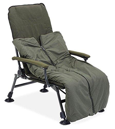 Anaconda Nighthawk Chair | mit eingebautem Schlafsack für die Beine | Sitzfläche 50 x 54 cm | belastbar bis 165 kg
