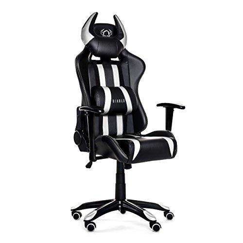 Diablo X-One Horn Fauteuil Gamer Chaise de Bureau en Optique de Course, Sellerie Simili Cuir, avec accoudoirs réglables, sélection des Couleurs