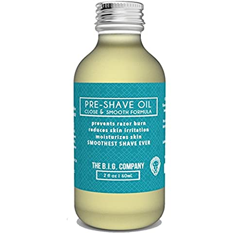 The B.I.G. Company - Pre Shave Oil - Aceite Para Barba - 60 ML - Both a Shave Oil and Beard Oil