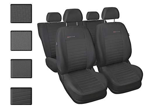 Sitzbezüge Auto universal Set Autositzbezüge Schonbezüge Dunkelgrau-Grau Vordersitze und Rücksitze mit Airbag System - Elegance P4