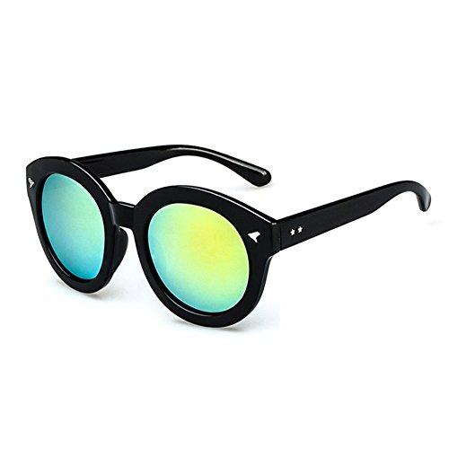 Z-P unisexe classique r¨¦tro mode cadre rond Arrow couleur brillante objectif rond r¨¦fl¨¦chissant UV400 lunettes de soleil 65mm UbY3L