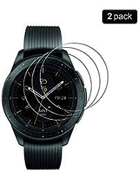 PaceBid [2 Stück] Samsung Galaxy Watch 42mm Panzerglas Schutzfolie [Anti-Kratzer] 9H Härte kristallkla Kratzfest Hartglas Displayschutzfolie Glasfolie für Samsung Galaxy Watch 42mm