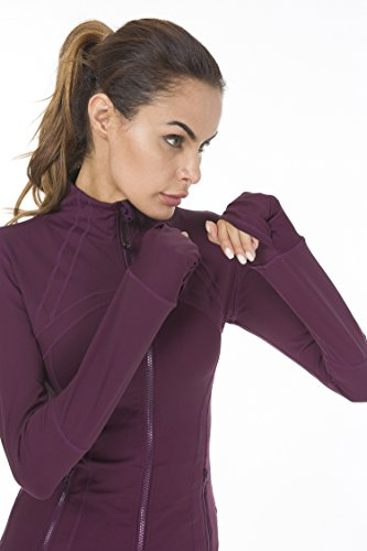Queenie Ke Donna Essentials Soft Giacca Yoga Running Gym Rosso