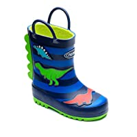 Chipmunks Boys/Girls Kids Infants/Junior Wellies Wellington Boots - Jurassic Dinosaur