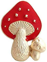 TBOP PIN THE BEST OF PLANET Simple And Stylish Brooches For Female Cute Red Mushroom Brooch Corsage In Red And...