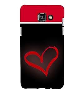 Heart 3D Hard Polycarbonate Designer Back Case Cover for Samsung Galaxy A7 (2016) :: Samsung Galaxy A7 2016 Duos :: Samsung Galaxy A7 2016 A710F A710M A710FD A7100 A710Y :: Samsung Galaxy A7 A710 2016 Edition