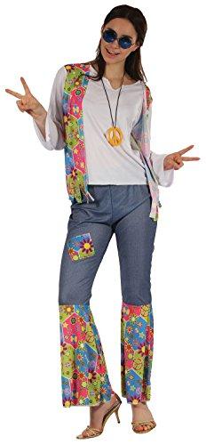 P 'tit Clown-99697-Kostüm Erwachsene Hippie Damen-Einheitsgröße