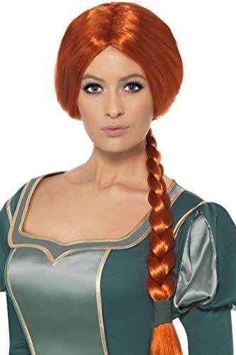 Ohren Kostüm Shrek - Smiffys Shrek Prinzessin Fiona Perücke, One Size