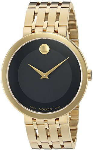Movado Men's Swiss Quartz and Stainless-Steel Casual Watch, Color:Gold-Toned (Model: 0607059)