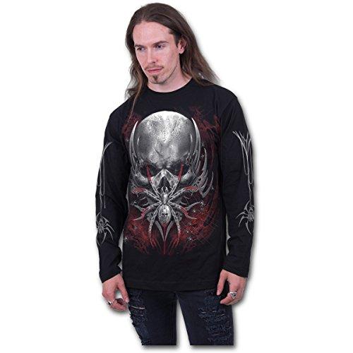 Spiral Spider Skull Langarm Shirt Spinne Totenkopf Gothic Black