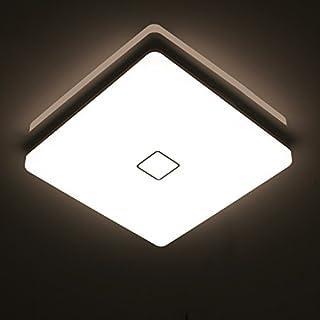 Öuesen24W imperméable à l'eau LED Plafonnier moderne mince carré LED Lampe de plafond 2050lm Blanc Naturel 4000K Applicable à la salle de bain la chambre la cuisine le salon le balcon et le couloir