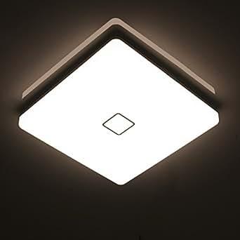 Öuesen24W imperméable à l'eau LED Plafonnier moderne mince carré LED Lampe de plafond Blanc Naturel 4000K Applicable à la salle de bain la chambre la cuisine le salon le balcon et le couloir