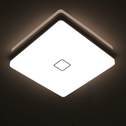Öuesen 24W Wasserdichte LED-Lampe Decke Moderne dünne quadratische LED Deckenleuchte 2050lm Natürliches Weiß 4000K LED Deckenlampe Badezimmer Schlafzimmer Küche Wohnzimmer Korridor Balkon Flur Bad