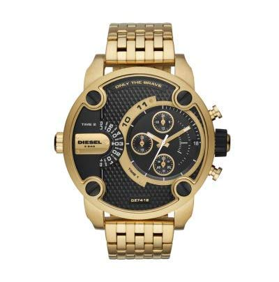 Diesel Herren Analog Quarz Uhr mit Edelstahl Armband DZ7412