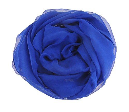 Superbe aspect soie JMT Douce pour châle Scarf- 11 coloris disponibles Bleu - Bleu marine