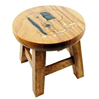 Stool For Child With Elephant (H25cm)