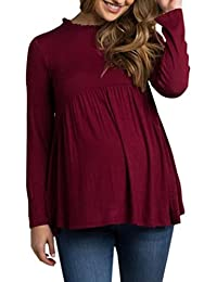 Logobeing Mujer Ropa,Bebé Para La Camiseta de Maternidad Mujeres Embarazadas Tops,Informal T-Shirt