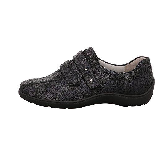Waldläufer  496301-118194, Chaussures de ville à lacets pour femme Notte