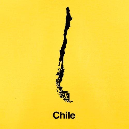 Chile / Republik Chile Silhouette - Herren T-Shirt - 13 Farben Gelb