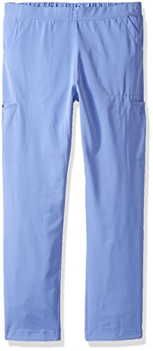 WonderWink Women's Hp Plus Size Trouser Scrub Pant Petite, Ceil Blue, X-Small -