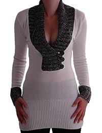 Eyecatch - Genna Damen Strick-Pullover Caul Eine Größe