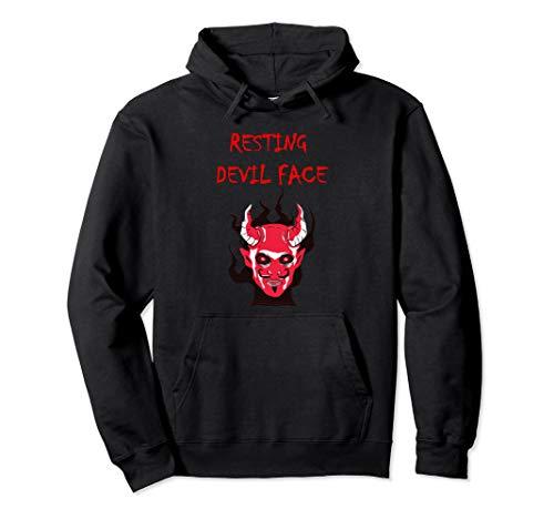 Kostüm Wirklich Beängstigend - Wirklich beängstigend gruselig Horror Teufel Hörner Gesicht  Pullover Hoodie