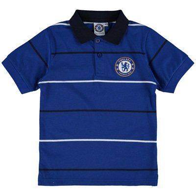 Chelsea FC Essential Stripe Polo (Âge 4–5 ans)