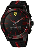 Ferrari Herren Armbanduhr Quarz Edelstahl und Silikon Smart, Farbe: Schwarz (Modell: 830375)