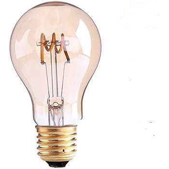 Century Light - E27 Bombillas Edison 3W Bombilla Vintage A19 LED Retro Blanco Cálido 300LM Bombillas