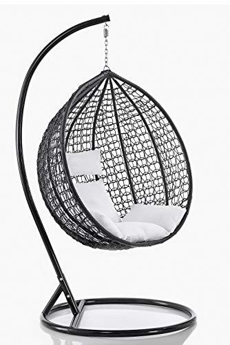 Sedia dondolo sospesa per interno e esterno con cuscino Modello Mia
