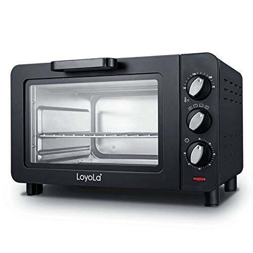TL Air Fry Smart-Oven Luft, gebürsteter Edelstahl, Ofen Home Mini-Backen-Ofen,Schwarz -