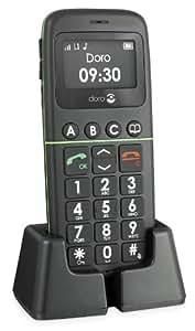 Doro PhoneEasy 338gsm Mobiltelefon (Notruftaste, 3 Direktwahltasten, große Tasten) schwarz