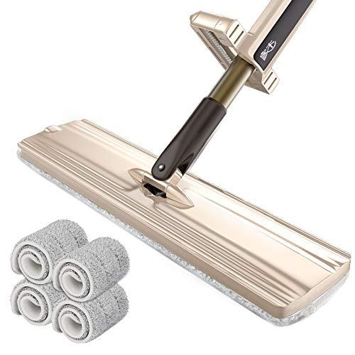 Handwasch Flachmopp Mopp Holzbodenplatte Dreh Mopp selbst Extrudierens Wasser Mopp 38cm verlängert Platte