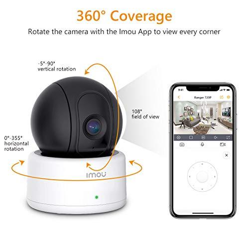 Imou Cámara IP WiFi 720P Cámara de Vigilancia Interior Cámara de Seguriada Alarma App Control con Visión Nocturna,  Detección de Movimiento,  Audio Bidireccional