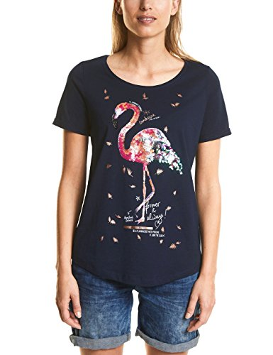 Street One Damen T-Shirt 312177, Mehrfarbig (Deep Blue 21238), 38