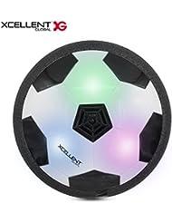 Xcellent Global Air power soccer, Ballon de football aéroglisseur, Disque LED lumineux, jouet pour enfant d'extérieur et d'intérieur, avec un pare-chocs en mousse TY011