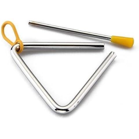 SODIAL(R) Triangulo Percusion Instrumentos Musicales Sacudidor Vaquero forjado cena