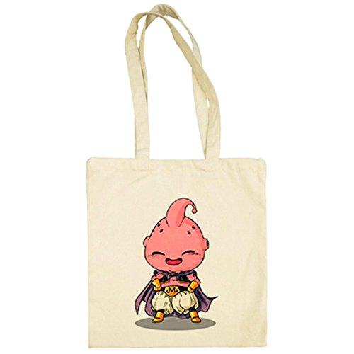 Bolsa de tela Chibi Kawaii Majin Buu parodia de Dragon Ball - Beige, 38 x 42 cm