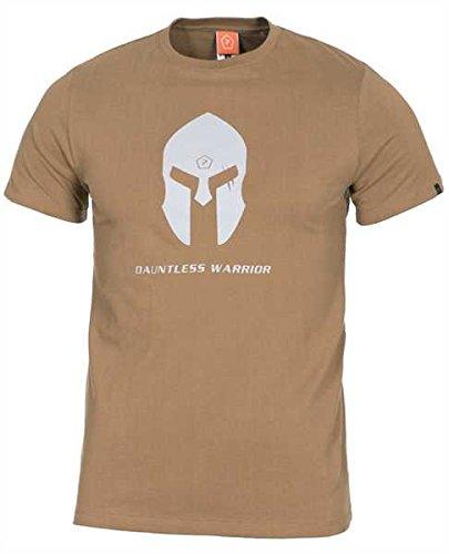 Pentagon Herren Ageron T-Shirt Spartan Helmet Coyote größe 3XL
